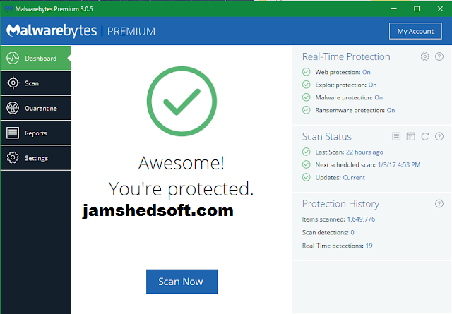Malwarebytes Anti-Malware 3.6.1.2711 Crack Key Version + Final .